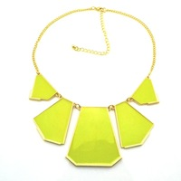 2013 New Trend Neon Color Geometrical Shape Big Necklace For Women, Night Club Necklace,Geometry Pandent