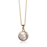 Top quality swiss zircon Fashion Jewelry Italina Rigant Gold Plated Pendant Necklace for Women