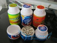Free shipping Creative chewing gum 3-layer Metal herb grinder Tobacco Grinder Machine manual Gift GR081