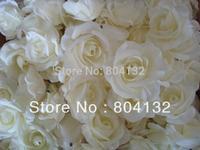 "100pcs 8cm/3.15"" Artificial Silk Rose Peony Camellia Flower Heads DIY Hairclip Flowers"