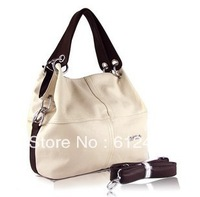 2013 New Style Fashion Weidipolo PU Leather Handbag  Patchwork Casual Shoulder Bags and Totes for Woman 4 colors