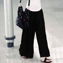 fashional black loose pants dress women's clothing for girls women retails(China (Mainland))