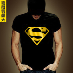 2013 Bronzier super man t shirt diy personalized funny t shirt summer male short sleeve tee men plus size -XXXXL(China (Mainland))