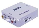 Wholesale + Drop shipping Mini AV to HDMI Converter Up Scaler 1080P/720P(China (Mainland))