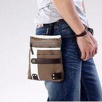 2013 man bag fashion messenger canvas waist pack casual small bags MB035