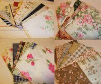 100 PCS,20*18CM Lowest price Mixed Designs Cotton Fabric Patchwork