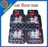 EASTSUN 5 pcs / Set Senior Environmental Latex Cartoon Pattern Cute AUTO Car Floor Mat