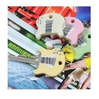 Guitar style silica gel querysystem key cover key wallet 4