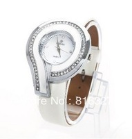 Free Shipping High Quality Electronic Watch Stainless Steel Watch with Diamonds Hour Marks Rhinestone Watch 2 Colors