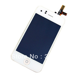 20pcs/lot White For iPhone 3GS front panel lcd touch glass &middle frame, home button assembly16GB 8GB(China (Mainland))