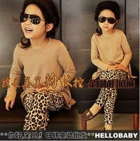 NZ151,Free Shipping!2013 hot sell children leggings fashion leopard print girl tight pants kid trousers Wholesale And Retail