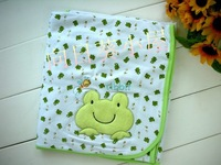 NWT Baby Blankets FROG with embroidered Face
