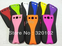 Wine cup Wineglass Rubber case matte Tri-Layer 2 colors for Samsung galaxy S3 I9300 S 3 III Fashion