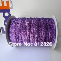 1'' 25mm Purple/Lavender Glitter Metallic Velvet Ribbon Free Shipping