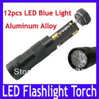 Free shipping Aluminum alloy led flashlight torch,12 LED Mini Torch Flashlight Lamp For Camp Picnic Hiking,2pcs/lot