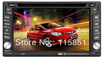 6.2 inch Car DVD Player with Bluetooth TV (GPS IPOD Optional) Free Shipping DHL