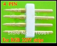 Free shipping RGB Pin for 220V  LED 5050SMD RGB strips connect Pins
