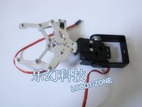 Free shipping ,2 DOF Aluminium Robot arm Clamp Claw Mount kit