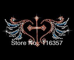 WI-015 Wholesale Hot Fix rhinestone motif Heat transfer Iron on rhinestone motif(China (Mainland))