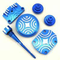 Blue CNC ENGINE DRESS UP KIT CRF50 XR XR50 70 125 138 KLX110, TTR90