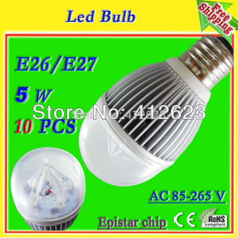 led globe light bulbs_high intensity 5*1 watt led light bulbs for lamps with light pipe_free shipping china wholesale(China (Mainland))