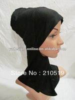 U058 WHITE,Black,mix colors Fashion Cotton Inner ninja scarf; islam inner HIJAB/scarf;MUSLIM UNDERSCARF