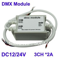 10pcs/lot, Free Shipping,LED DMX 512 MODULE RGB Controller,DC12 2A 3 Channels ,Retail,Wholesale