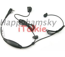 Ear bone Vibration Earpiece for UV-5R TG-UV2 PX-888K TH-UVF1 TH-UVF9 UV-B5 KG-UVD1P KG-UV6DEarphone, Headset with finger PTT(China (Mainland))