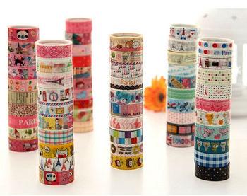 Sweet Korean PVC Decoration DIY Cartoon tape, 15mm*5m, lace, candy, floral, paris tower, DIY scrapbooking masking sticker