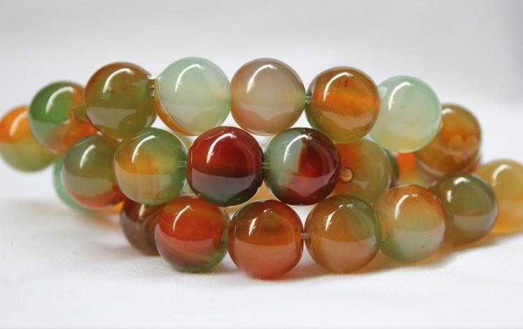 Grátis frete 6 - 14 mm DIY jóias contas de pedra naturais Semi precioso Natural cor pavão ágata ágata verde beads(China (Mainland))