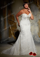 Modern Ball Gown Strapless Beaded and Applique Cheaping Designer plus Size Bridal Wedding Dresses