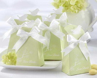 LOVE BIRD blossom green paper favor and gift boxes wedding candy gift packaging box cardboard box