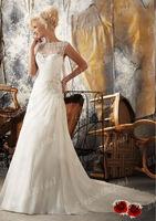 2013 New Listing scoop Mermaid muslim wedding dress