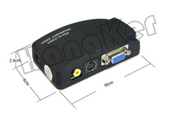 SHEN ZHEN video adapter AV S-Video BNC RCA to VGA TV Video converter Switch box,(China (Mainland))