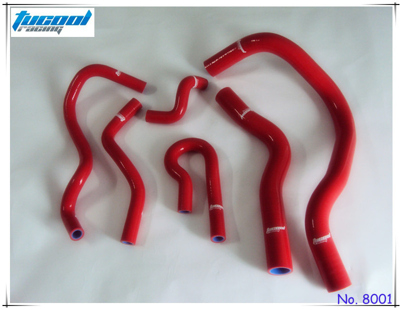Free Shipping Silicone Radiator Hose Kit 6pcs Red for Civic B-Series Type R DC2 EK4 EK9 B16A/B 8001(China (Mainland))
