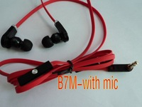 new design B7M model,,fashion earphone with MIC ,L shape plug, 4 colors +package bag,100pcs/lot ,free shipping