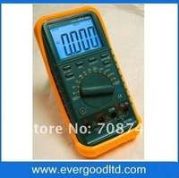Free shipping, AC/DC-750/1000V, 10A,40M ohm, 200uF, 30MHz, duty cycle, back light autorange digital multimeter MY-99L