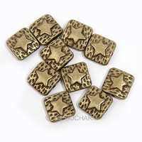 Free Shipping 150pcs Charms Square Star Antique Bronze Beads  Fit DIY Necklace Bracelet 41681