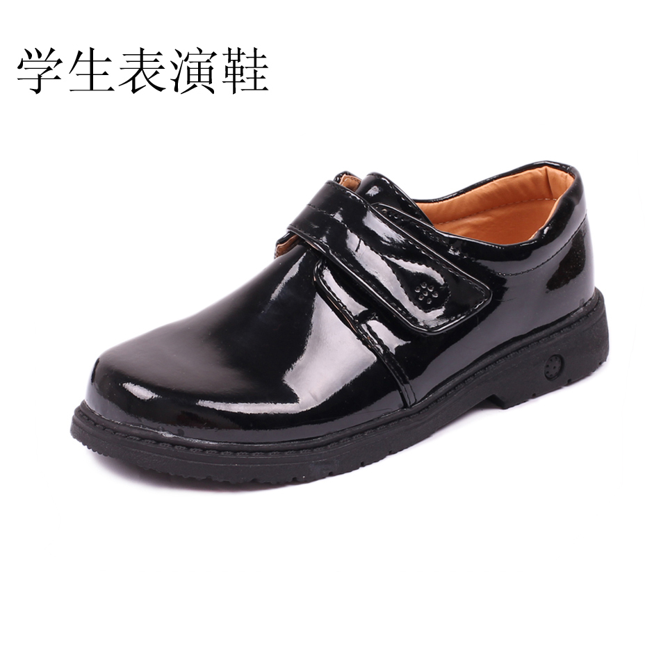 free shipping export Male child leather child black leather flower girl leather child formal dress uniform shoes HOT(China (Mainland))