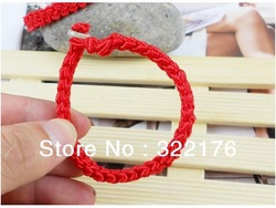 [ Life Art ] 100pcs/lot offer Red line bracelet pure manual weaving bracelet jade bracelet boutique supply of goods wholesale(China (Mainland))