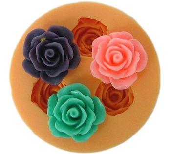 free shipping rose shape Silicone Cake Mould chocolate mould Baking Cupcake Mold Pan