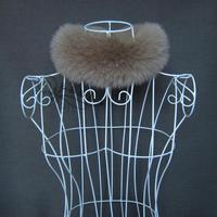Women's autumn and winter thermal fur full leather fox fur muffler scarf small scarf Women fox fur collar camel
