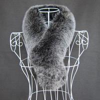 Fur autumn and winter rectangular the broadened women's fox fur scarf muffler scarf fur collar sub thermal scarf black