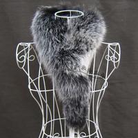 Fur  women's fox fur scarf muffler scarf fur collar sub thermal scarf black