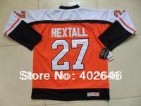 Ice hockey Flyers #27 Ron Hextall CCM orange jerseys, high quality