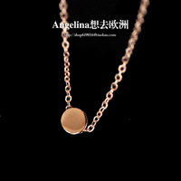 FREE SHIPPING~New Jewelry Fashion Korean Style 18k Rose Gold Plated Mini Cute Peas Chocker Necklace
