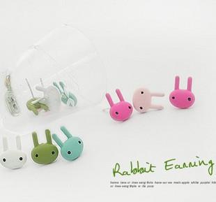 Ordem mínima é $ 10 (ordem da mistura) cravo coelho pintura acessórios W E2088 estranhas multicor brinco multicolor(China (Mainland))