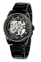 Free Shipping!!! Hot Sale 2013 NEW Fashion Hollow Out  Waterproof  Mechanical Watch For Men