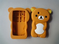 3D Rilakkuma Bear Silicone Skin Case For ZTE Blade V880 U880  1PCS/LOT