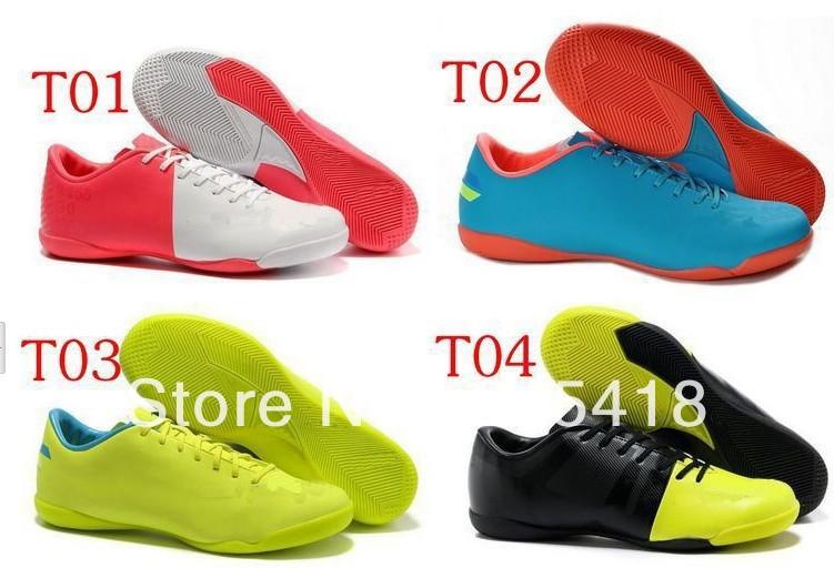 wholesaler men Assassin Soccer shoes planar transparent bottom cleats football indoor football shoes size:39-45(China (Mainland))